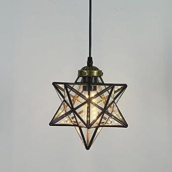 Star rays glass pendant light porch hanging drop lantern ceiling star rays glass pendant light porch hanging drop lantern ceiling light shade for loft bar cafe aloadofball Images