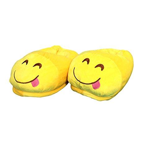 motivo EKNA unisex pantofole 35 mucchio Frech smiley cacca kaki di Emoji con scelta Emoticon innamorato e taglia 43 bacio a emoticon rn8rqzYf