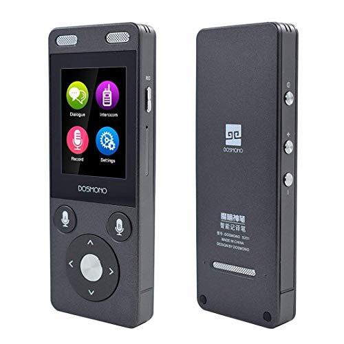Portable Translator Device, Mini Smart AI 2-Way Instant Electronic Voice Simultaneous Recording Translator Dveice with 2 inch Touch Screen Support 72 Languages for WiFi&4G