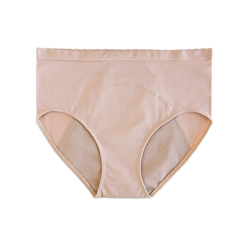 [Anigan StainFree Seamless High-Rise Brief Menstrual Period Panty Underwear - XXL] (Washable Womens Panty)