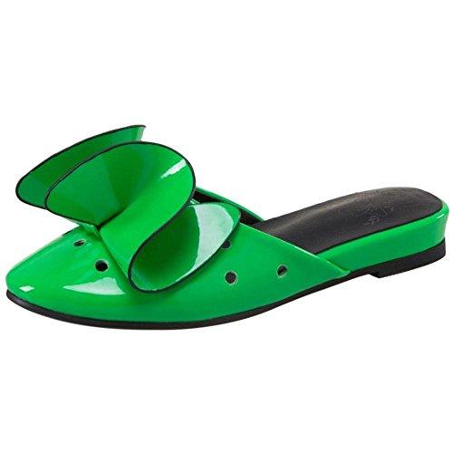 Femmes Slide Plates green Sandales JOJONUNU 1Ydp6qwx6