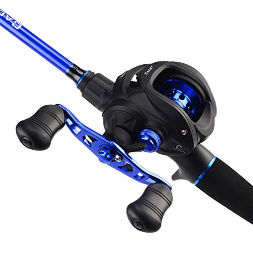 KastKing Cadet Casting Combos, IM6 Graphite 2pc Blanks, O-Ring Guides, Graphite Reel Seats, EVA Handles & Fighting Butt, Split Rear Handle Design, 5+1 BB Casting Reel, Magnetic Casting Control