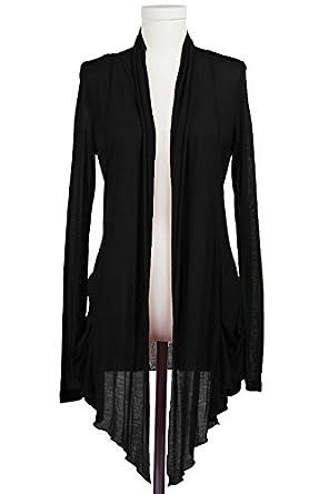 Plus Size Sheer Draped Cardigan --Size: 2x Color: Black at Amazon ...