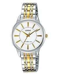 Lorus RG203NX9 - Reloj analógico de cuarzo para mujer con correa chapada en oro