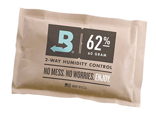 Price comparison product image Boveda 62-Percentage RH Individually Over Wrapped 2-Way Humidity Control Pack,  60gm
