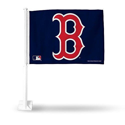 - MLB Red Sox Secondary Design Car Flag, 8 x 1, Logo Color