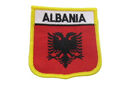 Nylon Georgia Indoor Flag - ALBATROS Albania Albanian Country Flag (Pack of 3) Iron On Patch for Home and Parades, Official Party, All Weather Indoors Outdoors