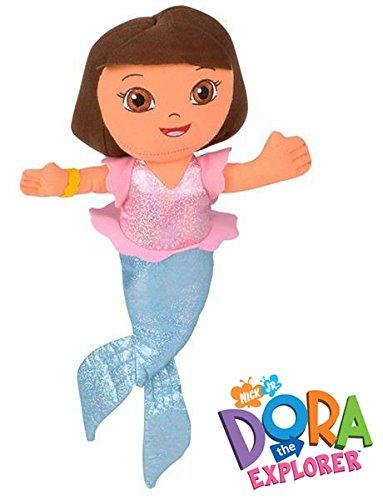 """Nick Jr. Dora the Explorer Mermaid Plush Doll 13"""""""