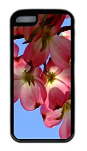 covers discount tropical flowers TPU Black Case for iphone 5C