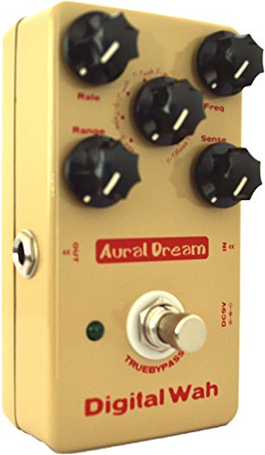 Aural Dream Digital Wah Guitar Effect Pedal including 8 Auto WahWah and Multiple Wah Effects with large dynamic adjustment True bypass ass