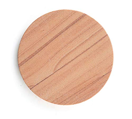 Thirstystone Brand-Cinnabar, Multicolor All Natural Sandstone-Durable Stone with Varying Patterns, Every Coaster is an Original, 4 inch round,