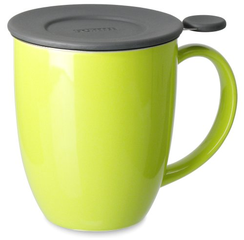 FORLIFE Uni Brew-in-Mug with Tea Infuser and Lid, 16-Ounce, Lime
