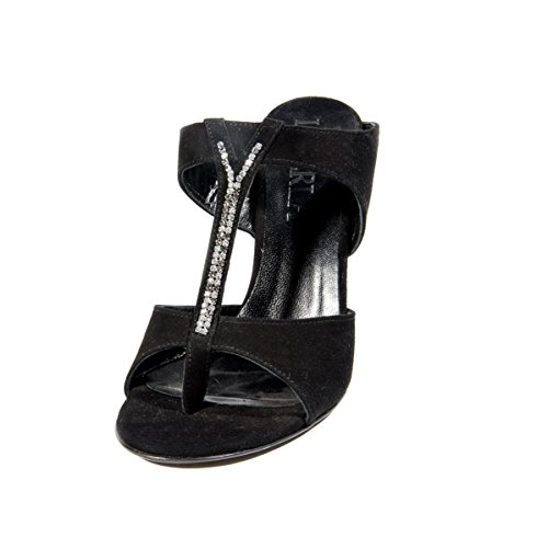 Mujer De Vestir Sandalias La Para Piel Negro Perla x8gqwFwY