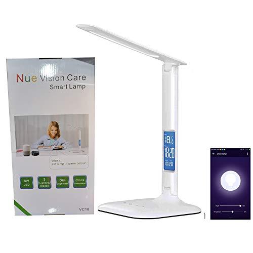 Alexa Control de voz inteligente lámpara de computadora WiFi LED lámpara de mesa Eye Caring lectura luz de estudio con...