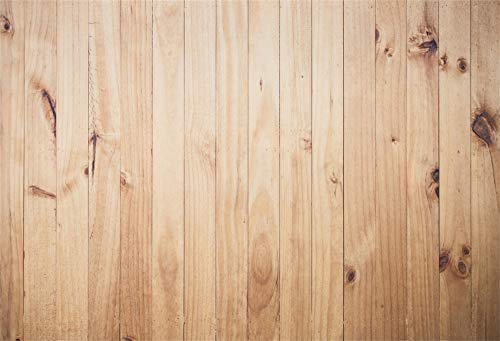 LFEEY Customizable 10x7ft Thin Vinyl Photography Backdrop for Baby and Kids Wood Floor Wall Scene Seamless Horizontal Stripe Wood Photo Background Studio Props