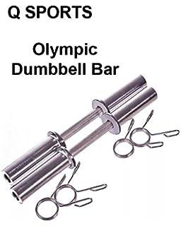 Q Sports - Juego de 2 pesas olímpicas para pesas de 5 cm de largo, para levantamiento de pesas, culturismo,…