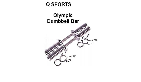 Q Sports - Juego de 2 pesas olímpicas para pesas de 5 cm de largo, para levantamiento de pesas, culturismo, bíceps, rizos de pecho, rieles de hombro y más ...