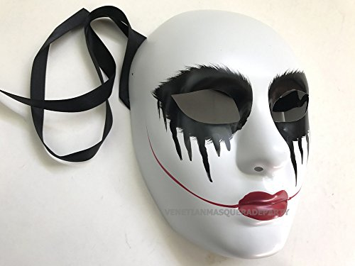 The Purge Costumes For Women (The Purge mask Anarchy movie Red lips women mask horror masked men Halloween Costume Party)