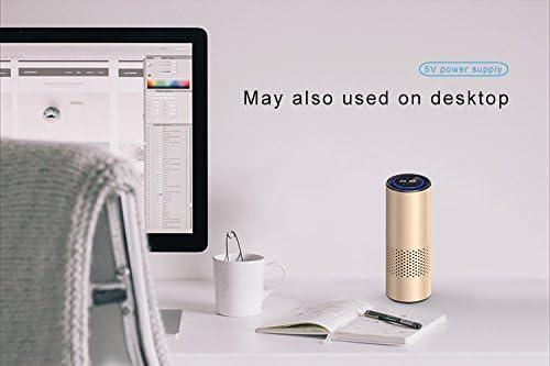LeadYoung - Filtro de purificador de Aire con Control de Gestos, eliminador de alergias de Olor, Humo, Polvo, Moho, Escritorio de Coche: Amazon.es: Hogar