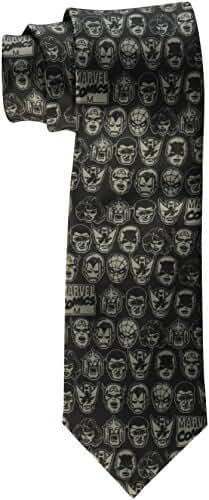 Marvel Men's Heads Print Tie