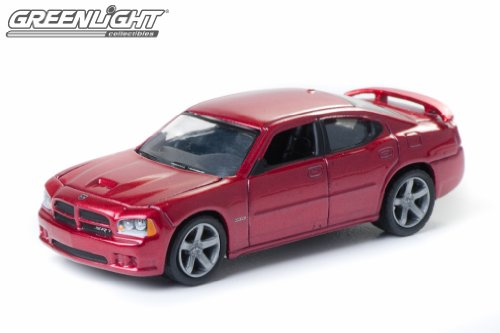 2006 DODGE CHARGER SRT8 * ZINE MACHINES SERIES ONE * 1:64 Scale 2011 Limited Edition Greenlight Collectibles Die-Cast Vehicle (64th Scale Red)