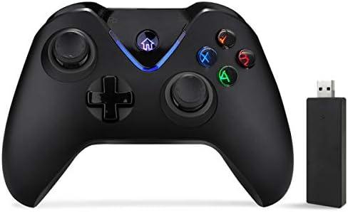ACGEARY - Mando inalámbrico para Xbox One, Mando de Juego de 2,4 GHz Compatible con Xbox One/PC Windows 10/PS3 Host y Sistema Android (Negro): Amazon.es: Electrónica