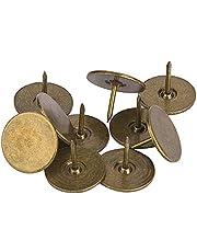 100 stuks bekleding kopspijkers, platte kop punaise assortiment kit meubels nagels ijzer kunst benodigdheden accessoires voor deur sofa gestoffeerde decoratie - cyaan brons(19 x 15MM)