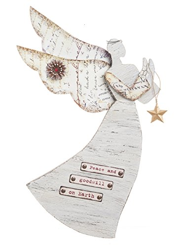 (Ganz Angel Wall Plaque Peace and Good Will on Earth)