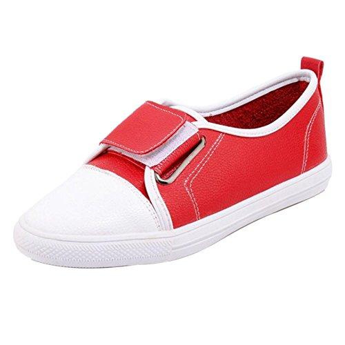 TAOFFEN Chaussures Chaussures red Femmes TAOFFEN Femmes TAOFFEN Printemps Escarpins red Espadrilles Femmes Escarpins Printemps Espadrilles UAXwqSB