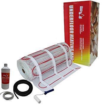 Nassboards Premium Pro Kit de Tapis de Chauffage Au Sol /Électrique Boite Rouge de 200 W 10.0m/² Thermostat Blanc Avec /Écran Tactile