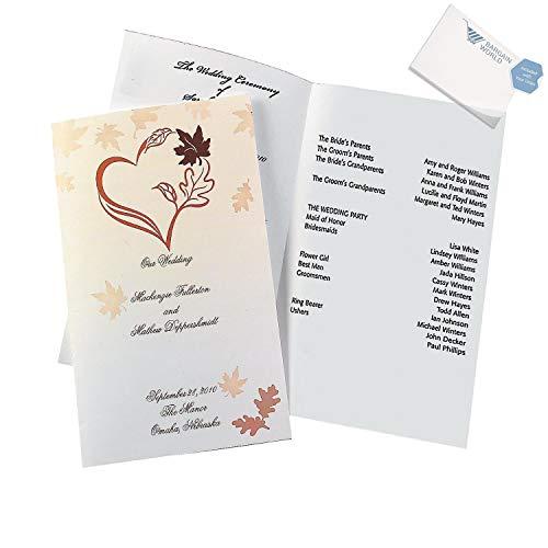 Bargain World Fall Wedding Programs (With Sticky (Sticky Note Program)