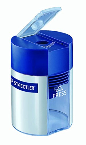 Staedtler Metal Single Hole Sharpener with Tub (Single Hole Sharpener)
