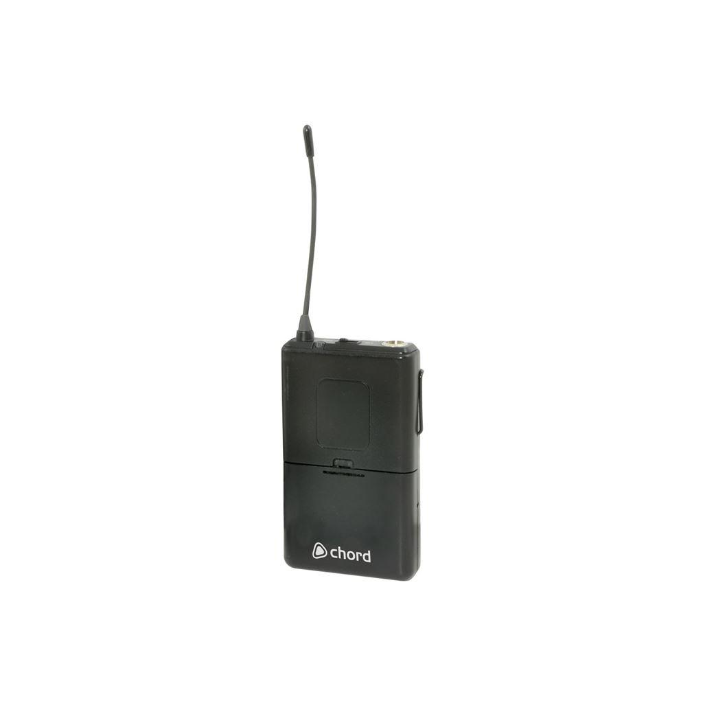 NU2ワイヤレスシステム用コード171.999 UHF 864.8MHzベルトパックトランスミッター - ブラック B0719VPNL3