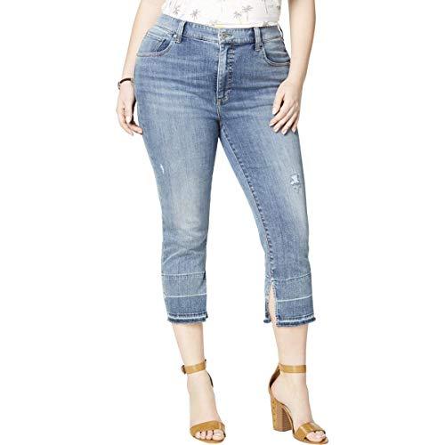 Lucky Brand Women's Size Plus HIGH Rise Emma Crop Jean in Lorain, 24W