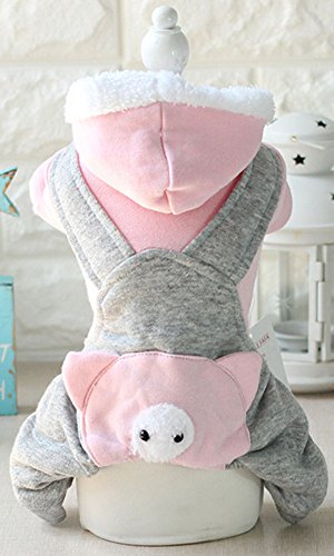 At-at Costume For Dog (MaruPet Dog the Four Feet Garments Warm Popular Little Rabbit Pig Transformation Pet Cloth Leisure Very Soft Cute The Latest Version Thicken Pink L)