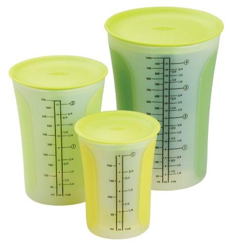 Chef'n SleekStor Pinch+Pour 3-Piece Measuring Beaker Set ...
