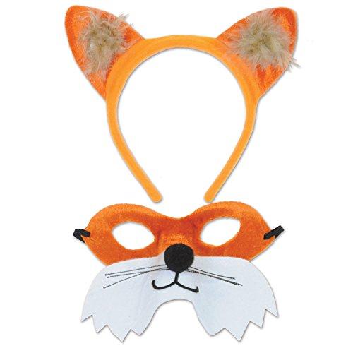Beistle 60068 Fox Headband & Mask Set, Multicolored -