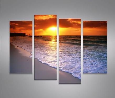 Beach 4 Quadri moderni su tela - pronti da appendere - montata su ...