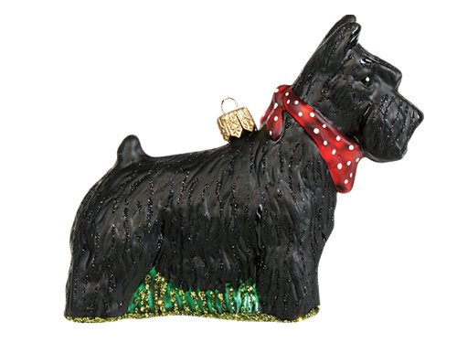 Pinnacle Peak Trading Company Scottish Terrier Dog Polish Blown Glass Christmas Ornament Scottie ()