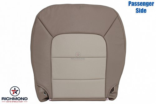 - Richmond Auto Upholstery 2004 Ford Expedition - Passenger Side Bottom Replacement Leather Seat Cover, 2-Tone Tan