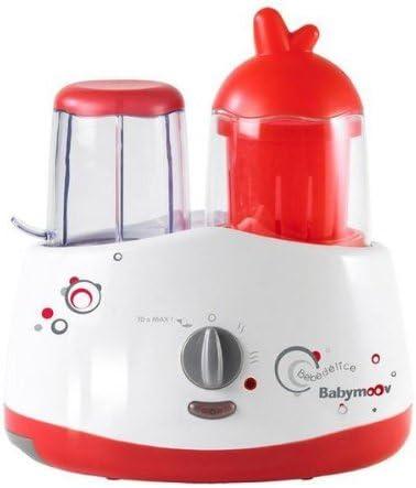 Babymoov A001009 Bebedelice - Robot de cocina para preparar alimentos infantiles (5 en 1: tritura, cocina, esteriliza, calienta, enfría), color rojo y gris: Amazon.es: Bebé