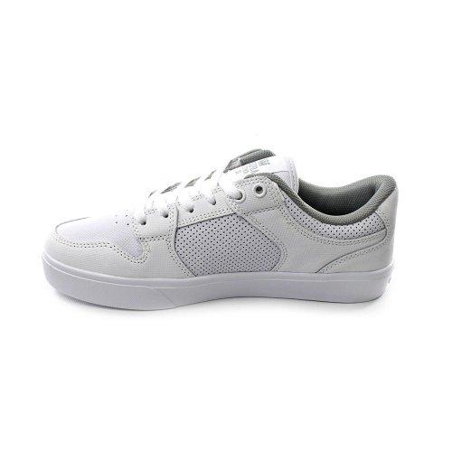 Supra - Zapatillas de cuero, tela para hombre blanco blanco blanco - blanco