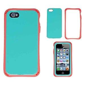 CellTx Razer Case For Apple (iphone 5, 5S) Bumper Case Cover (Pearl Light Blue) AT&T, T-Mobile, Sprint, Verizon, Cricket, Virgin Mobile, Boost Mobile by runtopwell