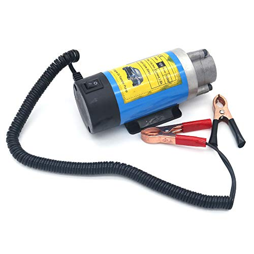 NUZAMAS 12V 100W Oil Transfer Pump, Portable Electric Self-Priming Diesel, Fluid Extractor, Water Transfer Pump, for Car Motorcycle and Boat Engine Oil Change Disposal - Pump Oil Motorcycle