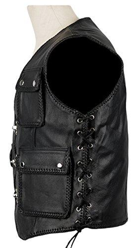 MDM - Manteau sans manche - Veste - Homme Noir Noir 5XL