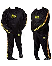 Heavy Duty 2 Fit Goud Sweat Sauna Pak Oefening Fitness Joggen Track Suit Hardlopen Sweat Pak Gewichtsverlies Sauna Bad Afslanken Pak Anti-Rip M-6XL