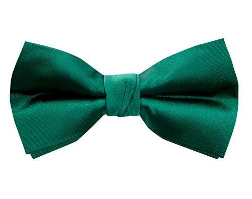 Spring Notion Men's Solid Color Satin Microfiber Bow Tie ()