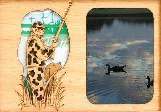 Duck Hunter Oak Insert for a 5x7 Picture Frame from GiftWorksPlus