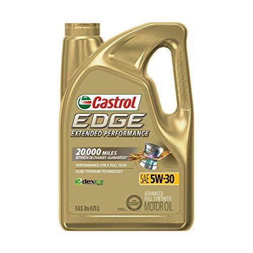 Castrol 1597B1 Edge Extended Performance 5W-30 Advanced Full Synthetic Motor Oil, 5 Quart