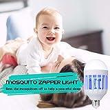 GLOUE Bug Zapper Light Bulb, 2 in 1 Mosquito Killer